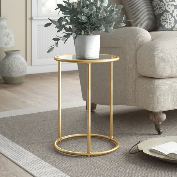 Rex Glass Top Frame End Table By Birch Lane™ Heritage