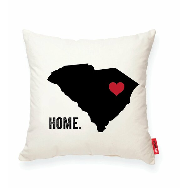 Pettry South Carolina Cotton Throw Pillow by Wrought Studio
