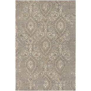 Barnhardt Hand-Tufted Taupe/Tan Area Rug by Charlton Home