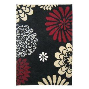 Read Reviews Alliyah Giant Flowers Black Area Rug By James Bond