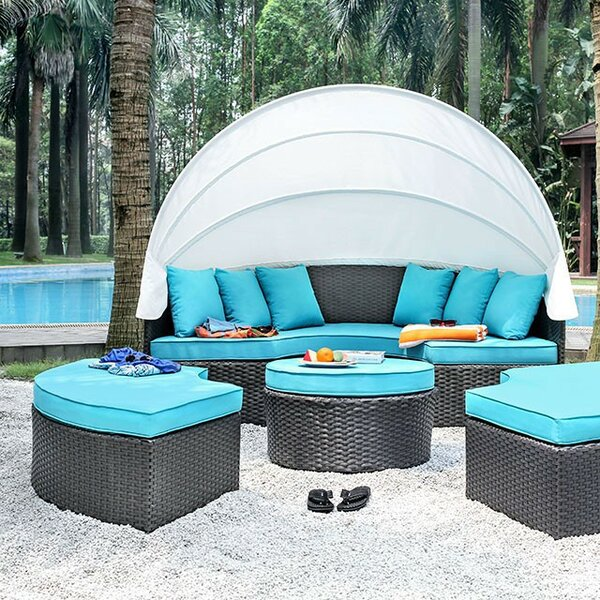 Corcoran Patio Daybed with Cushions by Brayden Studio