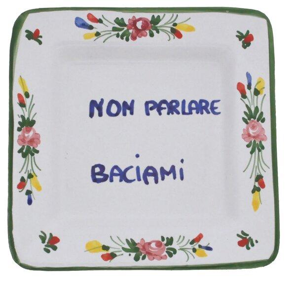 Gable Proverb Square Non Parlare Baciami 5 Bread and Butter Plate by Winston Porter