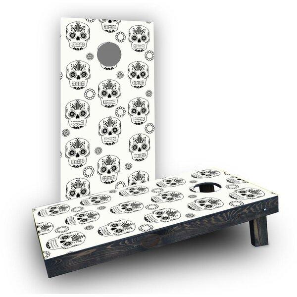 Sugar Skull Cornhole Boards (Set of 2) by Custom Cornhole Boards