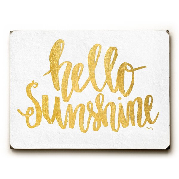 Hello Sunshine Textual Art by Artehouse LLC