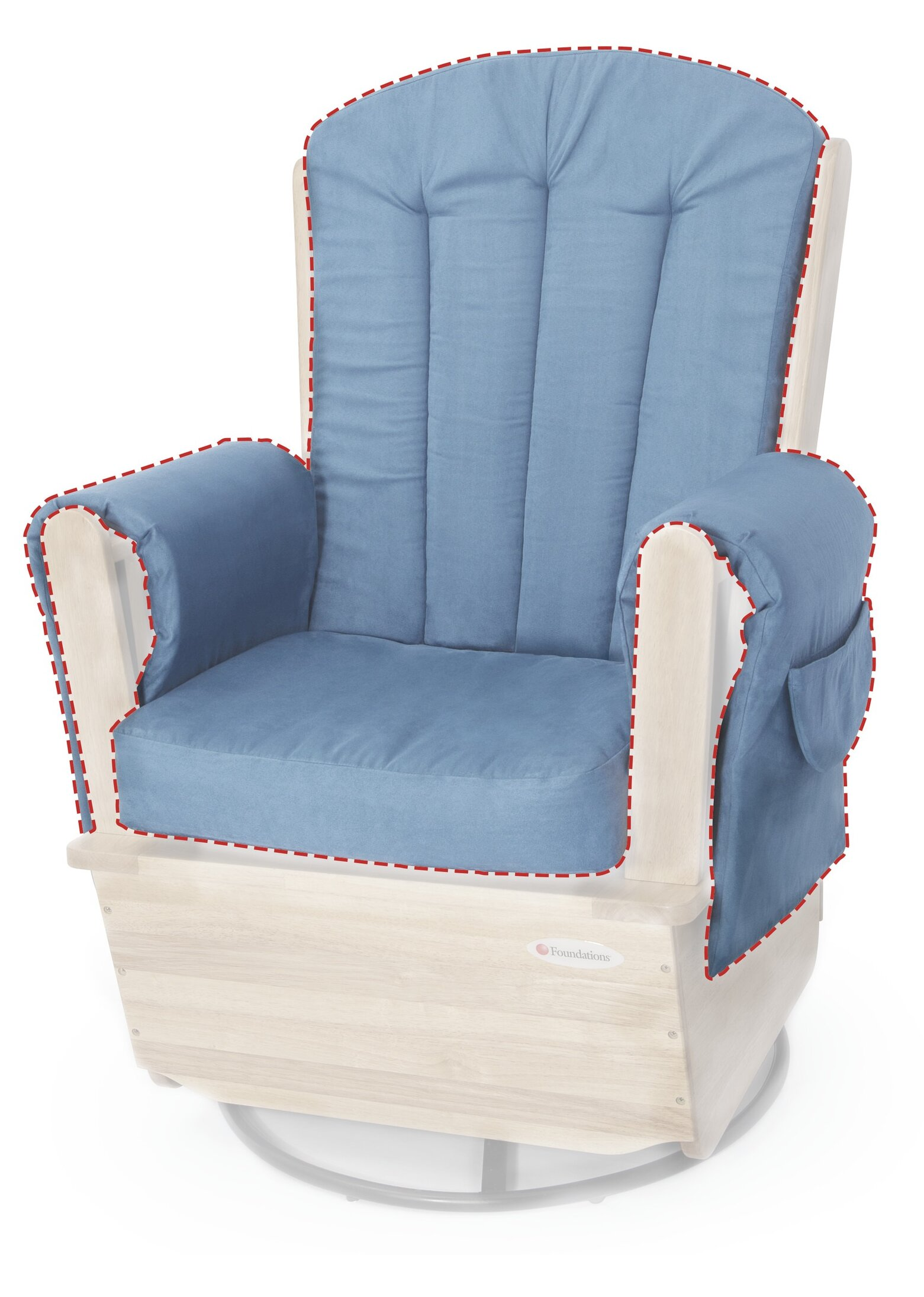 Picture of: Foundations Saferocker Replacement Indoor Rocking Chair Cushion Reviews