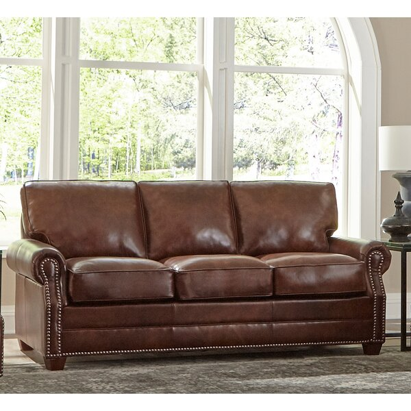 Brand New Lyndsey Leather Sofa by 17 Stories by 17 Stories