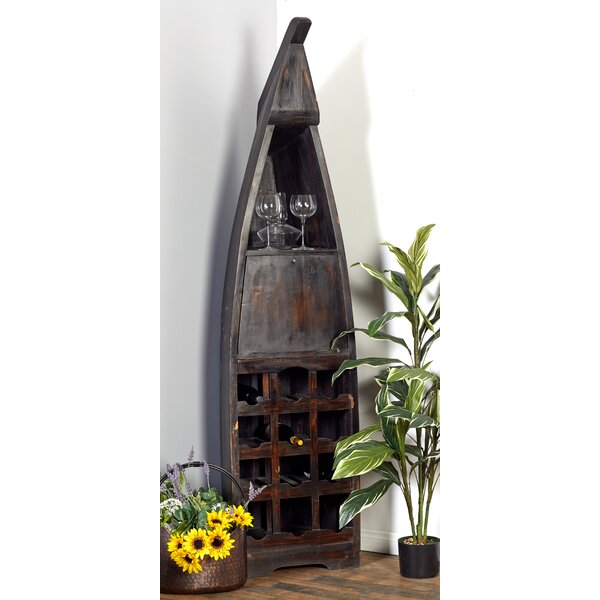 Blankenship Wood Boat 12 Bottle Floor Wine Bottle Rack by Breakwater Bay