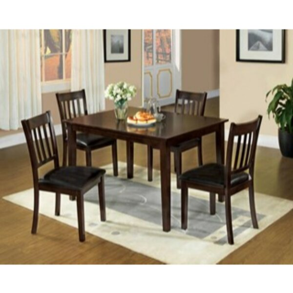 Tindall 5 Piece Solid Wood Dining Set by Winston Porter