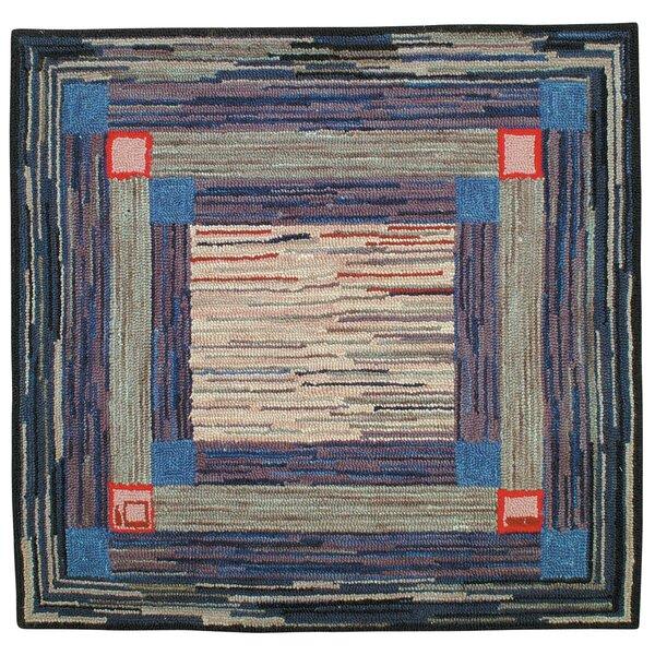 Jenette Hand Tufted Wool Blue Area Rug by Red Barrel Studio
