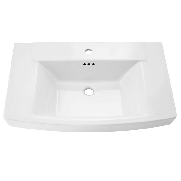 Townsend Rectangular Pedestal Bathroom Sink with Overflow by American Standard