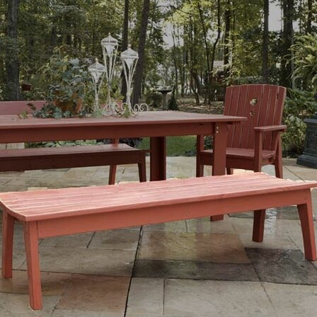 Pine Wood Picnic Bench by August Grove