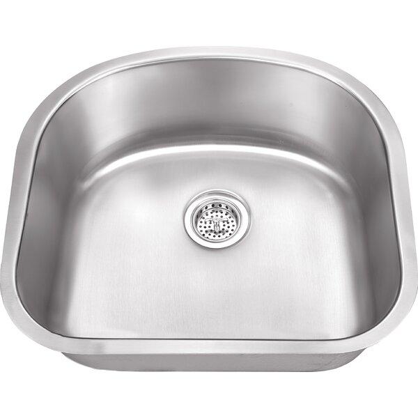 23.25 L x 20.88 W Stainless Steel 18 Gauge Single Bowl Kitchen Sink