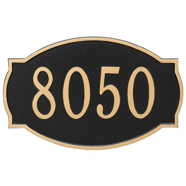 Cambridge 1-Line Wall Address Plaque by Montague Metal Products Inc.