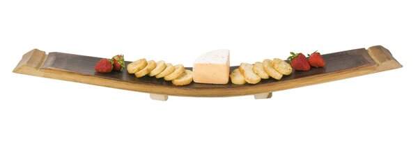 Wine Barrel Stave Cheese Tray by Napa East Collection