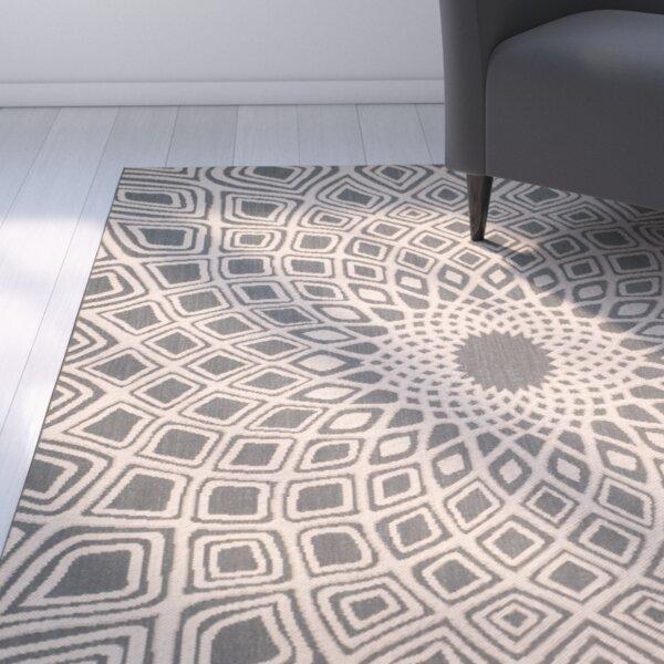 Mullen Anthracite/Beige Indoor/Outdoor Area Rug by Ebern Designs