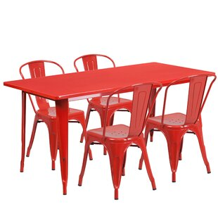 save - Red Dining Room Set