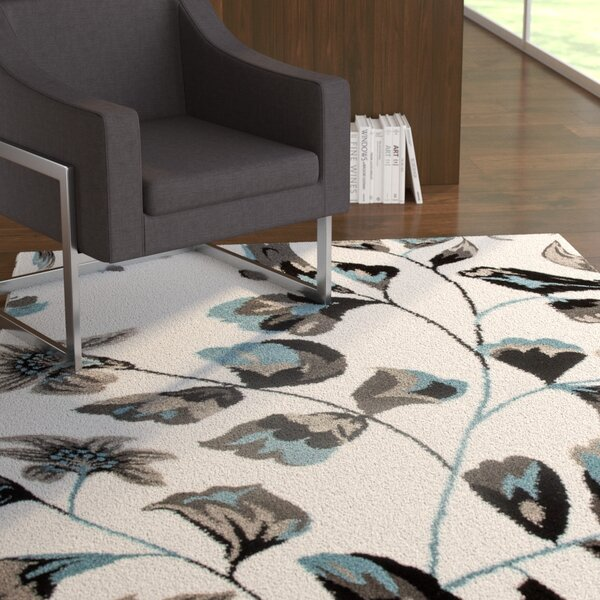 Allison Blue/White Area Rug by Ebern Designs