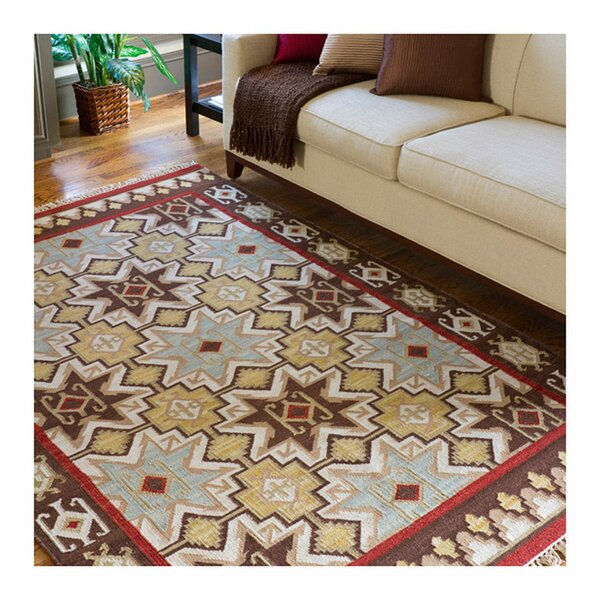 Wellsville Chocolate/Beige Rug by Loon Peak