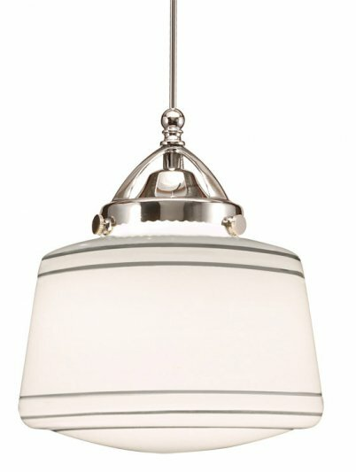 Plymouth 1-Light  LED Schoolhouse Pendant by WAC L
