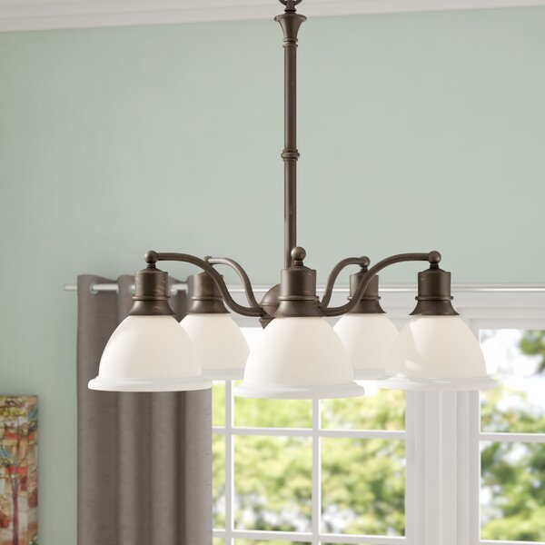 Vangorder 5 - Light Shaded Classic / Traditional Chandelier By Charlton Home
