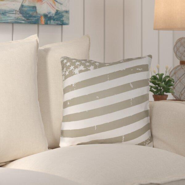 Saratoga Americana III Indoor/Outdoor Throw Pillow by Breakwater Bay