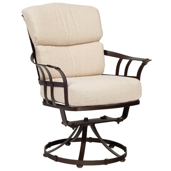 Atlas Swivel Patio Chair With Cushions By Woodard