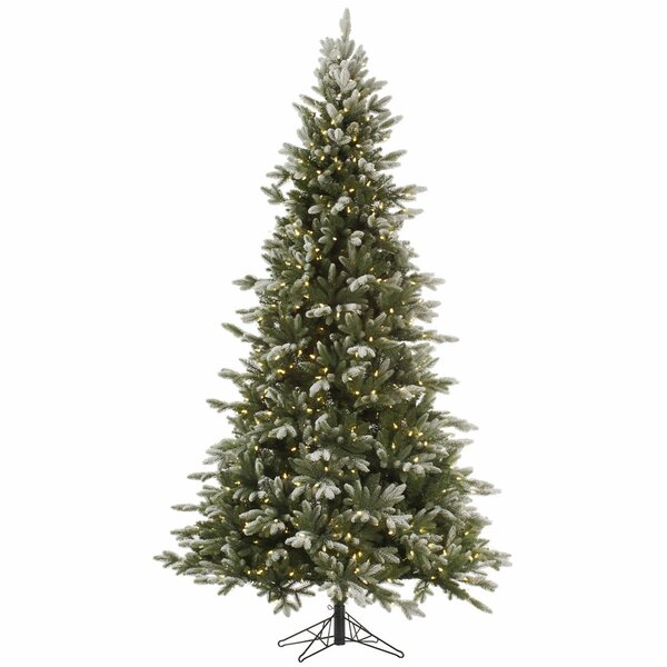 12 Green Fir Artificial Christmas Tree with 1850 Clear/White Lights with Stand by The Holiday Aisle