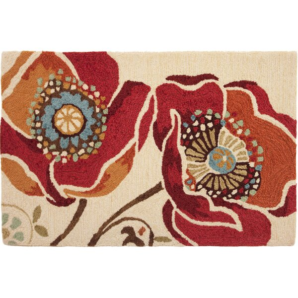 Dellroy Red Area Rug by Charlton Home