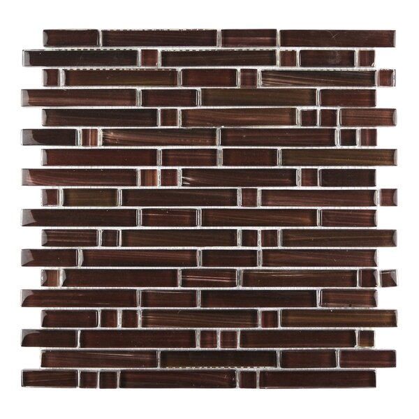 Handicraft II Random Sized Glass Mosaic Tile in Glazed Chocolate by Abolos