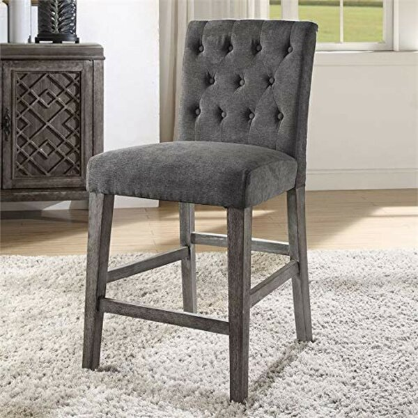 Anika Button Tufted Counter Height Upholstered Dining Chair (Set of 2) by Ophelia & Co.