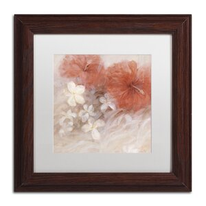 Hibiscus II by Li Bo Framed Painting Print by Trademark Fine Art