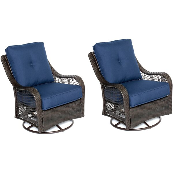 Nunda Patio Chair with Cushions (Set of 2) by Longshore Tides