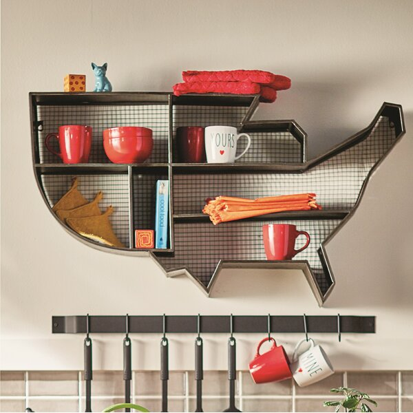 United States Display Wall Accent Shelf by Trent Austin Design