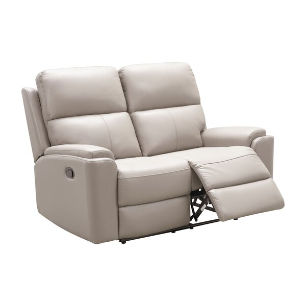 Adelin Genuine Leather Reclining 59.5'' Rolled Arm Loveseat By Latitude Run
