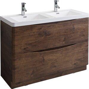 double bathroom vanity. genevieve 48\ double bathroom vanity
