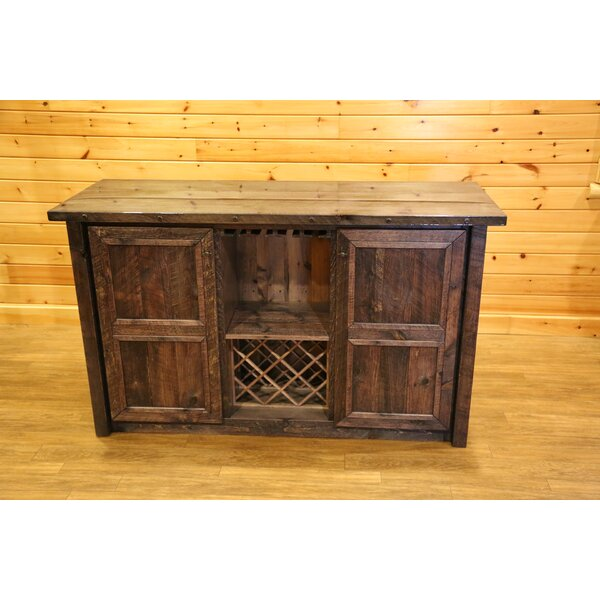 Bechtold Timber Peg Bar Cabinet By Millwood Pines
