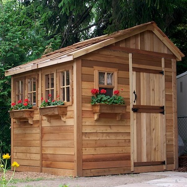 Sunshed 8 ft. x 8 ft. Wooden Storage Shed by Outdoor Living Today