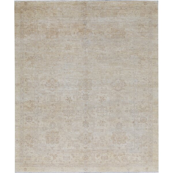 Ziegler Oriental Hand-Knotted Wool Beige Area Rug