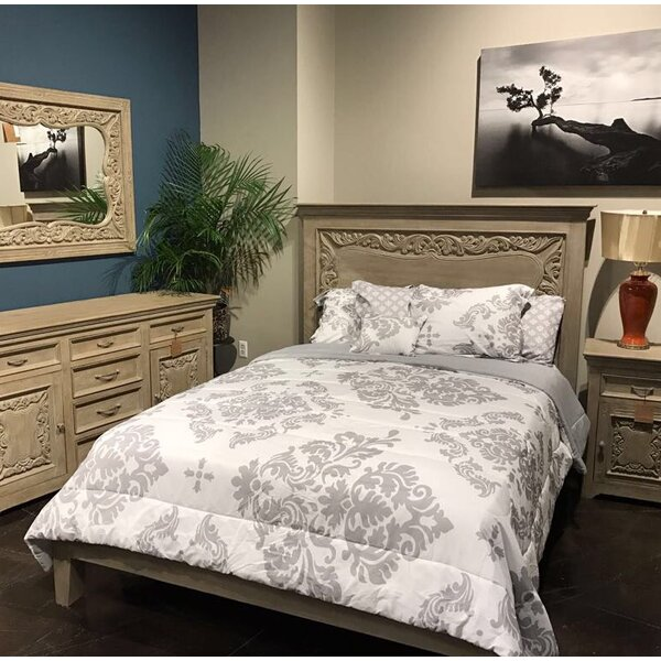 Patchway Carved Panel Bed by One Allium Way