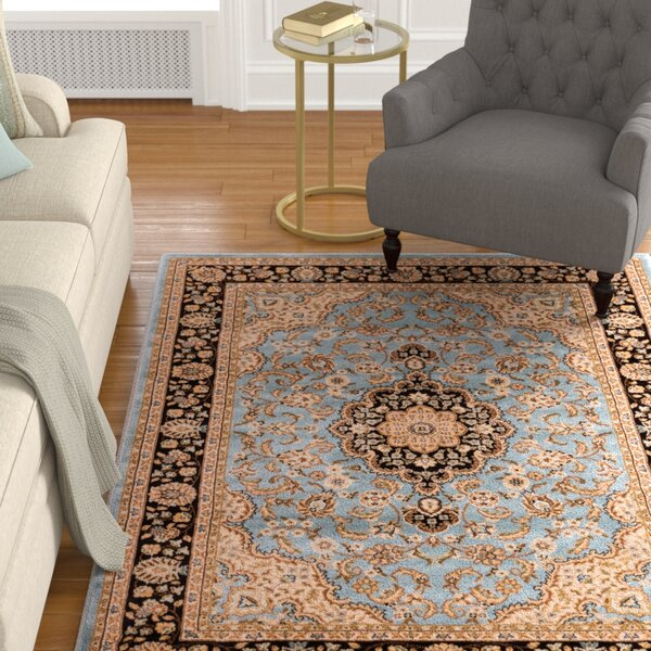 Belliere Medallion Traditional Light Blue Area Rug by Astoria Grand