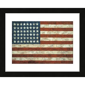 'Flag, 1954' by Jasper Johns Framed Painting Print by McGaw Graphics