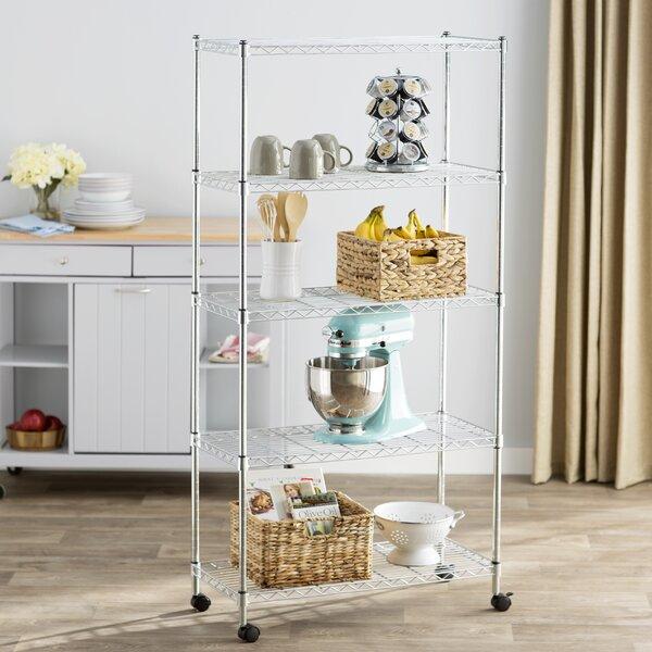 Wayfair Basics 5 Shelf Wire Shelving Unit by Wayfair Basics™