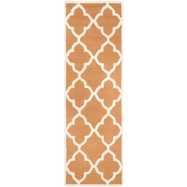 Charlenne Hand-Tufted Orange/Ivory Area Rug by Zipcode Design