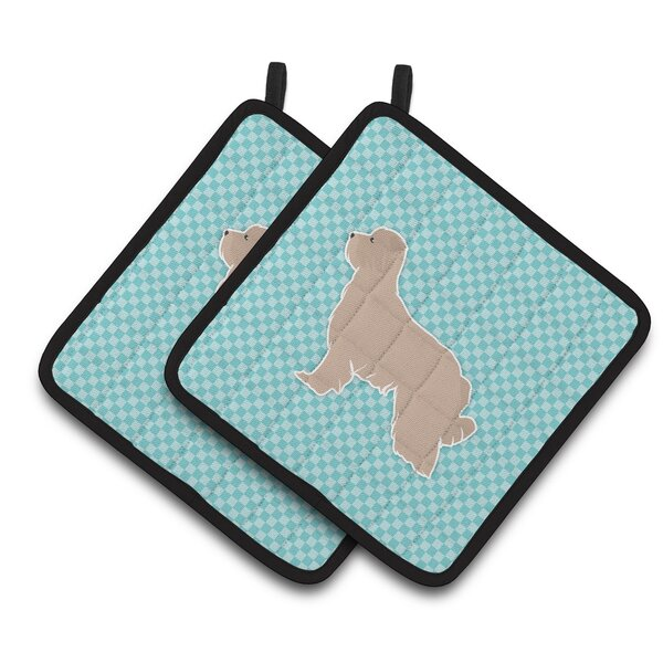 Square Checkerboard Potholder (Set of 2) by East Urban Home