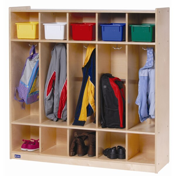 3 Tier 5 Wide Coat Locker by Angeles