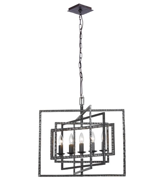 Kilmarnock 5 - Light Candle Style Square / Rectangle Chandelier By Latitude Run