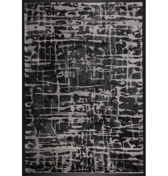 Stretford Silver/Black Area Rug by Williston Forge