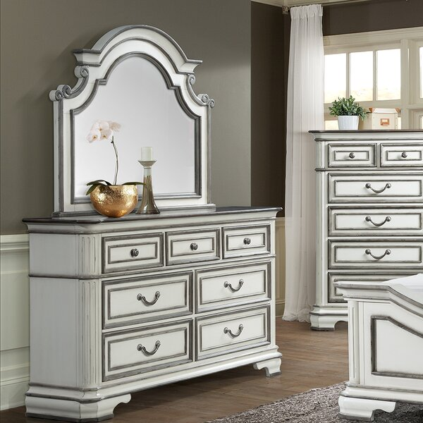 Newsom 7 Drawer Dresser with Mirror by House of Hampton