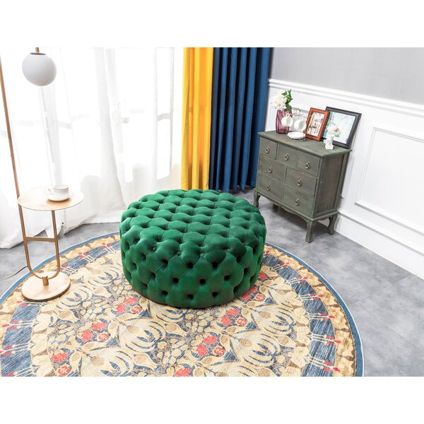Anadarko Tufted Cocktail Ottoman By Everly Quinn