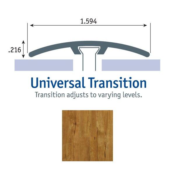 0.25 x 1.75 x 94 Maple Universal Transition in Golden Rose by Tarkett